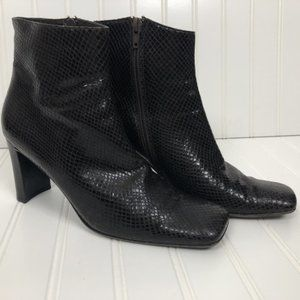 PALOMA Made in Italy Ankle Snakeskin Boots Sz 7.5